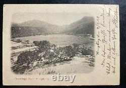1899 Hong Kong RPPC Real Picture Postcard cover To Bremen Germany Greetings