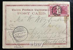1899 Hong Kong Real Picture Postcard Cover To Isselhorst Germany Harbor View