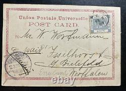 1899 Hong Kong Real Picture Postcard Cover To Isselhorst Germany Main Street