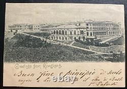 1900 Hong Kong Real picture postcard Cover RPPC To Milan Italy Greetings