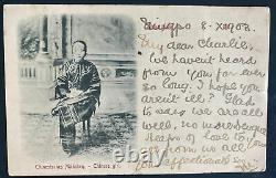 1903 Ningpo China Real picture Postcard Cover To Glasgow Scotland Chinese Girl