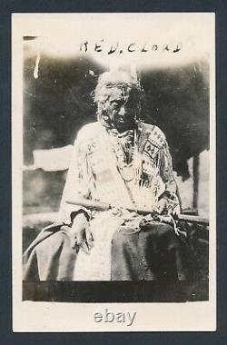 1909 CHIEF RED CLOUD Native American Leader Vintage Real Photo Postcard