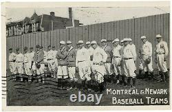 1909 Montreal Royals & Newark Indians Real Photo Postcard withHarry Wolverton++