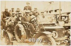 1910's Baseball Team, Unidentified, Real Photo Postcard in Early Automobile, EX