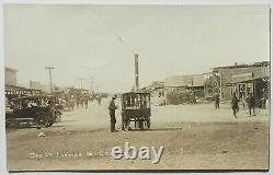 1916 Columbus, New Mexico REAL PHOTO Mexican Border War, Soldiers, Popcorn Wagon