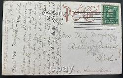 1916 Meadville Pa Usa Real Picture Postcard Cover Air Boat At Exposition Park