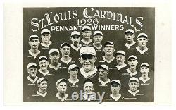 1926 St. Louis Cardinals Pennant Winners Real Photo Post card with Rogers Hornsby