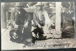 2 Mint Real Picture Postcards Hanging Cowboy Outlaw Black Jack New Mexico Usa