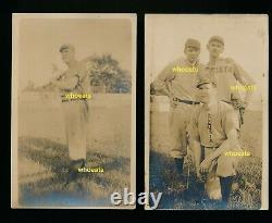 (3) 1910 Augusta Tourists baseball real photo postcards RPPC Southern Leagues