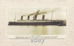 Antique Vintage embossed French Postcard Real Photograph RMS Titanic 1912s