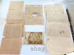 Australian Ww1 Letters & Real Photo Postcard From Same Soldier