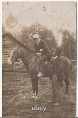 Butch Cassidy and the Sundance Kid  Real Photo 1907 from Chili postcard back