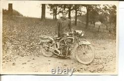 C. 1915 Excelsior Motorcycle Real Photo Post Card Unused Rare