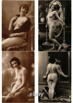 EROTIC REAL PHOTO NUDES COLLECTION OF 500 Vintage Postcards with BETTER