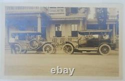 Early 1900's Black Americana Service Man Automobile Real life Photo Post card