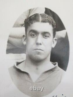 Extremely Rare Real Photograph Signed Postcard Of DIXIE DEAN 1931-32 Season