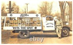 Fayette IL Curly Cook 5¢ PepsiCola Delivery Truck Real Photo Postcard