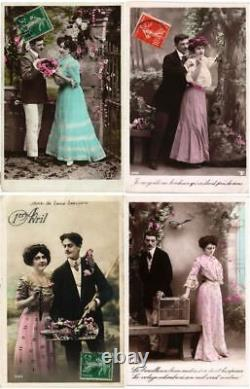 GLAMOUR ROMANTIC COUPLES (PART 2.) Lot of 600 Vintage Real Photo Postcards