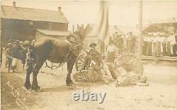 Hawkins Wisconsin WI July 4 Parade Suffrage Real Photograph 1910