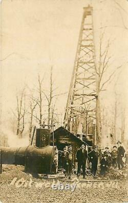 Illinois, IL, Parker, Clark County, Oil Well 1910's Real Photo Postcard & Boiler