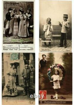 MILITARY GLAMOUR REAL PHOTO 96 Vintage Postcards (L2507)