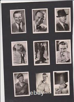 MOVIE FILM STARS 100 Different Vintage ROSS Real Photo Cigarette Cards 1930's