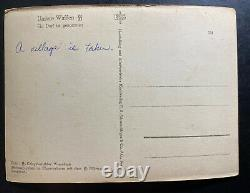 Mint Germany Real Picture Postcard Cover RPPC Waffen SS A Village Is Taken