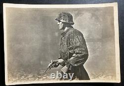 Mint Germany Real Picture Postcard Cover RPPC Waffen SS Street Fight Scene