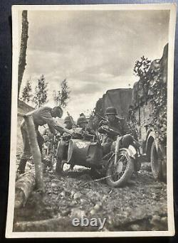Mint Germany Real Picture Postcard Cover Waffen SS Motorcycle Guard