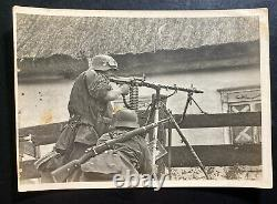 Mint Germany Real Picture Postcard Cover Waffen SS Soviet Position Is Fought