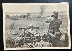 Mint Germany Real Picture Postcard Cover Waffen SS Struggle At Russian Town