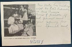 Mint Real Picture Postcard Native American Indian Harwood Boarding School