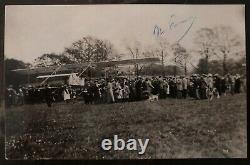 Mint USA Real Picture Postcard RPPC Early Aviation Maurice Farman Pilot Signed