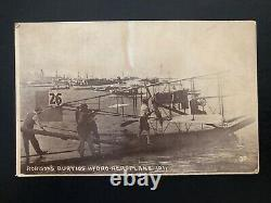 Mint USA Real Picture Postcard RPPC Robison Curtiss Hydroplane 1911