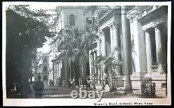 RPPC 1920s-30s Queen's Road, Central, Hong Kong Real Photo Postcard
