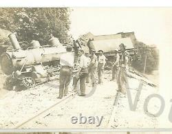 RPPC 7x WMRR Western Maryland Railroad WRECK WESTMINSTER MD Real Photo Postcards