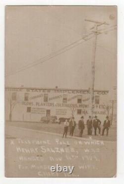 Racism / Two Real Photo Postcards of Cairo Illinois Lynchings of William 1909