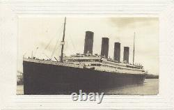Rare Antique Vintage old French Postcard Real Photograph RMS Titanic Posted 1912