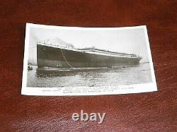 Rare Original Real Photo Titanic Postcard Launched May 31st 1911