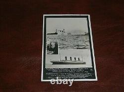 Rare Real Photo Titanic Disaster Postcard Shipping, Mr Stead, Journalist
