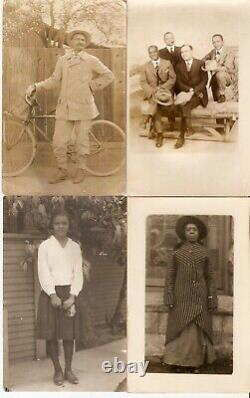 Real Photo Old Postcards & Photos of African-American Men & Women
