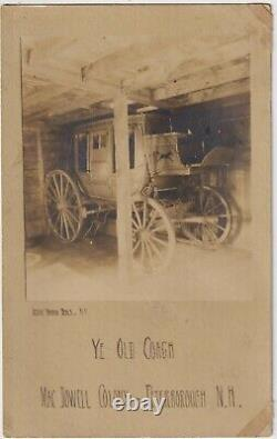 Real Photo by Jesse Tarbox Beals old stagecoach MacDowell Colony N. H