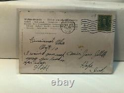 Real Picture Postcard Cincinnati Reds Baseball 1908 Postmark Palace Of The Fans