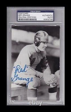 Red Grange Signed 4 x 6 Real Photo Postcard Auto Bears PSA/DNA 83902796