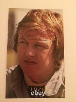 Ronnie Peterson Genuine Period Signed Postcard F1 Lotus Tyrrell March Winner