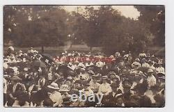 SUFFRAGETTE MEETING E. S. W. U. A. GLASTONBURY SOMERSET Tully REAL PHOTO PC 1914 -32