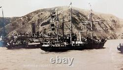Super Rare 1908 Shackletons Antarctic Expedition Real Photo Postcard The Nimrod