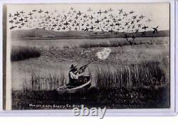 Surreal Real Photo Postcard RPPC Manipulated Exaggeration Hunting NE S D Butcher