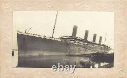 Vintage embossed old French Postcard white star line RMS Titanic Real Photo 1912